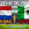 Pays-Bas – Mexique huitième de finale Mondial 2014